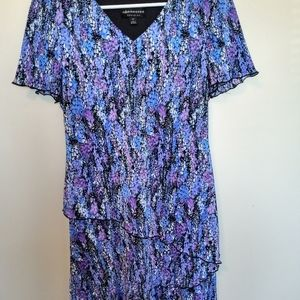 Ladies Multicolored Tiered Dress Size 10